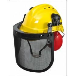 Casque de protection 3en1, casque+visière+oreillettes RIBILAND