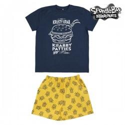 Pyjama D'Été Spongebob Bleu...