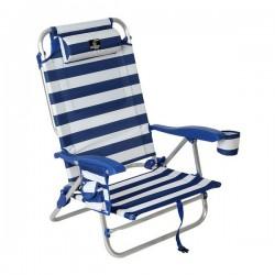 Chaise de plage Bleu Blanc...