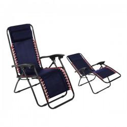 Chaise de plage (108 x 64 x...
