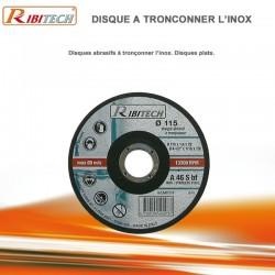 Disques abrasifs à tronçonner Inox Diamètre 115 mm