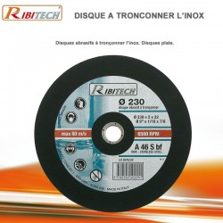 Disques abrasifs à tronçonner Inox Diamètre 230 mm