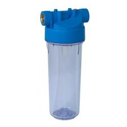 """RIBITECH Filtre à eau 9""""3/4 2pces vide, fil 3/4"""