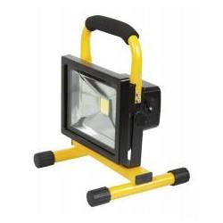 RIBITECH Projecteur à LED 20w 1200 lumens à batterie Li-ion portable
