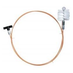 RIBITECH Kit de nettoyage pour poêle, long. 3m avec brosse diam. 80mm