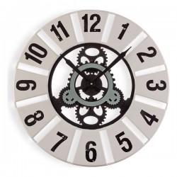 Horloge Murale Métal Bois...