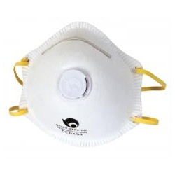 RIBITECH Masques anti poussières avec valve MP2 en lot de 3 pces