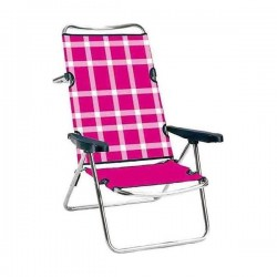 Chaise de Plage Rose Aluminium