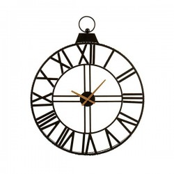 Horloge Murale Noir Noir...