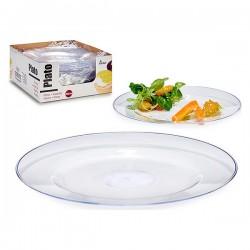 Assiette plate Transparent...