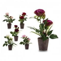 Pot Rose Plastique Fleurs
