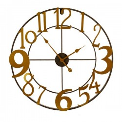 Horloge Murale Métal Doré...