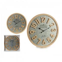 Horloge Murale Argent Bois...
