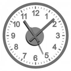 Horloge Murale Adhésif Argenté