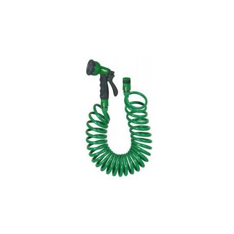 RIBILAND Kit tuyau spiralé 15m ACQUAPRO raccords +pist multifonctions