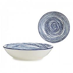 Assiette creuse Bleu...