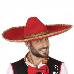Chapeau Mexicain Rouge 110194