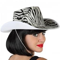 Chapeau de Cowboy Zèbre...