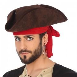 Chapeau Pirate Marron Rouge...
