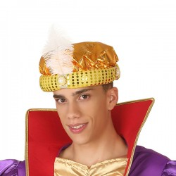 Chapeau Roi mage Doré 110385