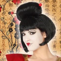 Perruques Geisha Brunette...