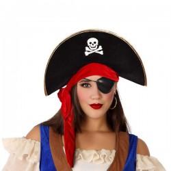 Chapeau Pirate Noir Rouge...