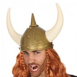 Casque Viking Doré Cornes