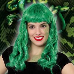 Perruque cheveux longs Vert...