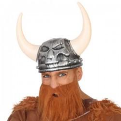 Casque Viking Crâne Gris