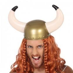 Casque Viking Cornes Doré