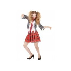 Déguisement zombie écolière femme Halloween TAILLE UNIQUE