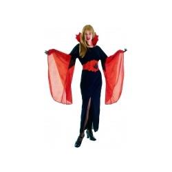 Déguisement vampire femme Halloween Ceinture toile d'araignée incluse ! TAILLE UNIQUE