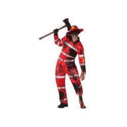 Déguisement sapeur-pompier zombie homme Halloween  TAILLE XL