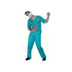 Déguisement médecin sanguinolent homme  existe en TAILLE L ET XL