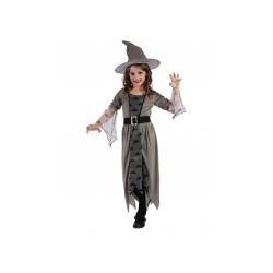 Déguisement sorcière grise fille de 3 à 4 ans