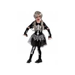 Déguisement Squelette vivant fille de  7 - 9 ans