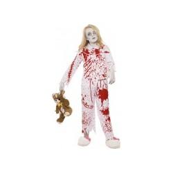 Déguisement zombie pyjama fille Halloween de 13  à 15 ans