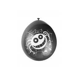 sachet de 10 Ballons Araignées Halloween 5 orange et 5 noirs