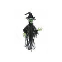 Décoration sorcière animée, lumineuse et parlante Halloween