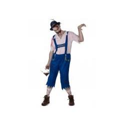 Déguisement zombie bavarois bleu homme taille L/XL