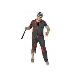 Déguisement zombie policier homme gris Halloween Taille M/L et XL