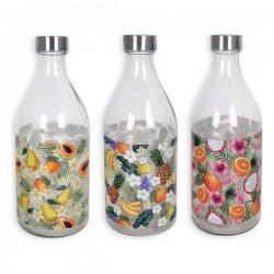 Bouteille verre Fruits 1L