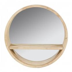 Miroir Rond Bois d'épicéa