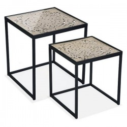 Jeu de 2 tables MDF (2 pcs)