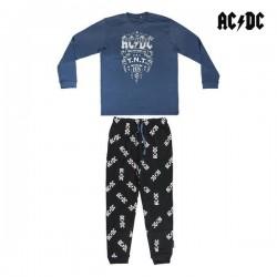 Pyjama AC/DC Adulte Bleu Noir