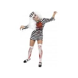 Déguisement zombie prisonnière femme Halloween taille L