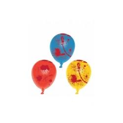 6 Ballons latex ensanglanté Halloween  Taille Unique