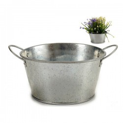 Pot zinc Argenté