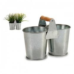 Cache-pot zinc (10,2 x 15 x...