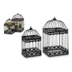 Cage Noir Métal Forge Noire...